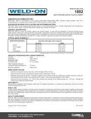 Weld On 1802 Data Sheet (multi-purpose acrylic ... - Curbell Plastics