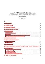 curriculum vitae e pubblicazioni scientifiche - Dipartimento di ...
