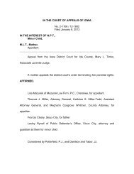 IN THE COURT OF APPEALS OF IOWA No. 2-1106 / 12-1802 Filed ...