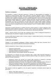 pof scuola primaria - Istituto Comprensivo Donadoni