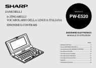 PW-E520 Operation-Manual IT - Sharp
