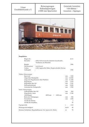 technische Daten - Die Ulmer Eisenbahnfreunde
