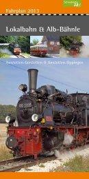 Fahrplan 2013 - Lokalbahn Amstetten-Gerstetten