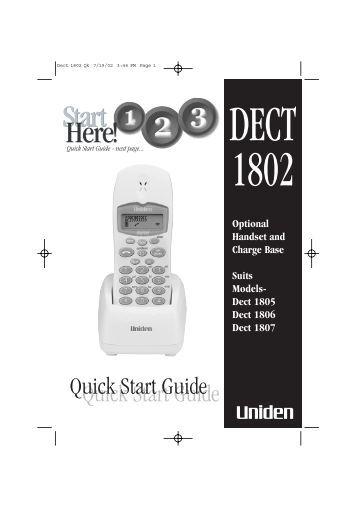 Uniden DECT 1802
