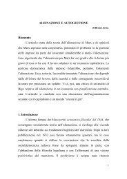 Alienazione e autogestione di Bruno Jossa.pdf - Istituto italiano di ...