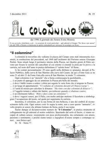 """""""Il colonnino"""" - Palio di Siena"""