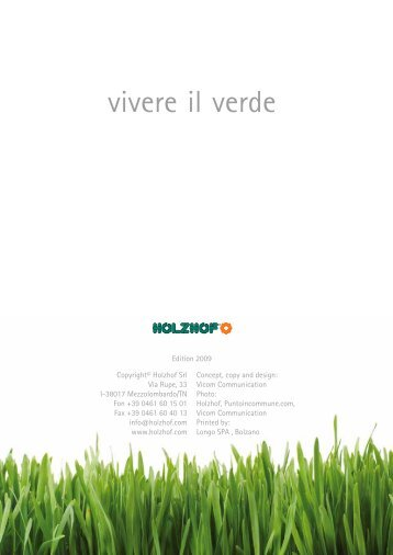 Download del catalogo (PDF - 14 MB) - Holzhof