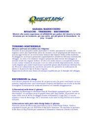 SAHARA MAROCCHINO BIVACCHI - TREKKING - ESCURSIONI ...