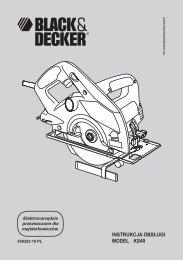 INSTRUKCJA OBSŁUGI MODEL KS40 - Service - Black & Decker