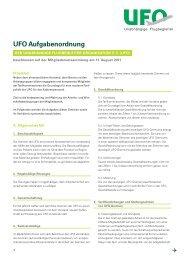UFO Aufgabenordnung - Unabhängige Flugbegleiter Organisation