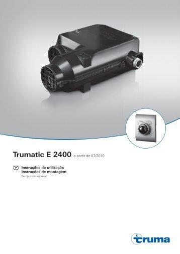 Trumatic E 2400 a partir de 07/2010 Instruções de utilização ...