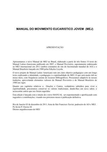 manual do movimento eucaristico jovem (mej) - Apostleship of Prayer
