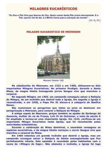 210 - Milagres eucaristicos - Maria Mãe da Igreja