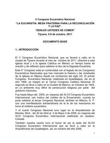 Texto Base - Congreso Eucarístico Nacional