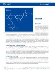 Diosmin Monograph - Alternative Medicine Review