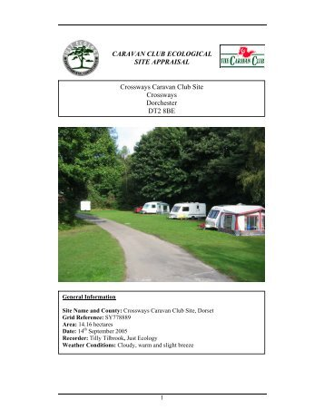 Biodiversity appraisal - The Caravan Club