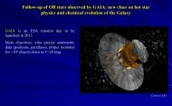 Follow-up of OB stars observed by GAIA: new clues on hot star ...