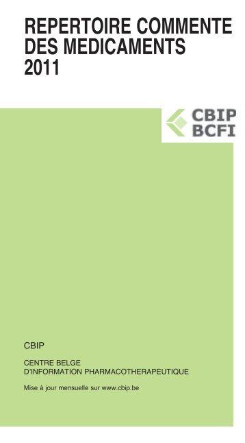 REPERTOIRE COMMENTE DES MEDICAMENTS 2011 - CBIP
