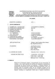 43. citogenética general - Facultad de Ciencias Biológicas ...