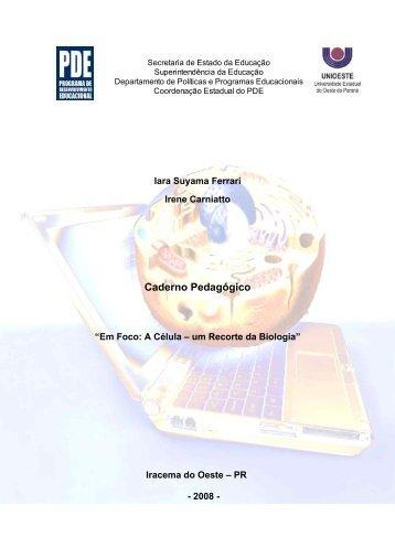 Caderno Pedagógico - Secretaria de Estado da Educação