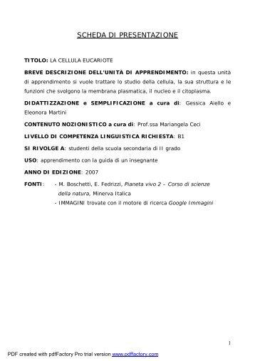 La Cellula Eucariote.pdf - Italiano per lo studio