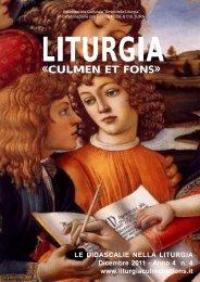 Dicembre 2011 - Anno 4 - Liturgia Culmen et Fons