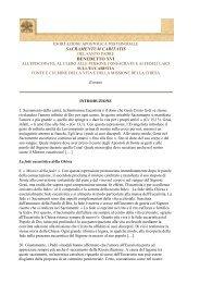 sacramentum caritatis benedetto xvi - Parrocchia San Michele ...
