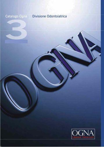 OGNA Catalogue 2008 - OGNA Laboratori Farmaceutici