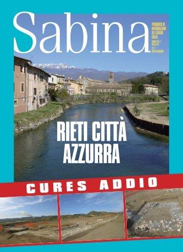 Leggi il PDF della rivista Sabina Magazine Marzo 2012.