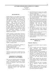 Kalahari Mining NL - A Junior Exploration Company in Africa