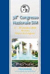Scarica il Programma del 38° Congresso SIM - Società Italiana di ...