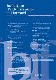 Bollettino d'Informazione sui Farmaci n. 6/2007 - Sefap