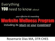 Worksite Wellness Program