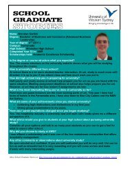 Name: Brendan Garlick Degree: Bachelor of Business and ...