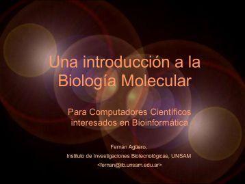 Una introducción a la Biología Molecular