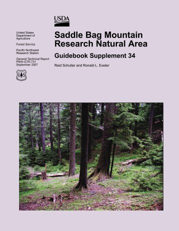 Saddle Bag Mountain Research Natural Area Guidebook ...