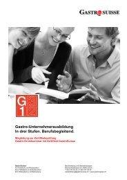 Wegleitung zur Zertifikatsprüfung - GastroSuisse