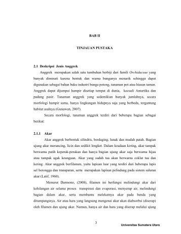 BAB II TINJAUAN PUSTAKA 2.1 Deskripsi Jenis Anggrek Anggrek ...