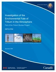 Investigation of the Environmental Fate of Tritium in the Atmosphere