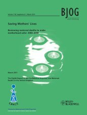Saving Mothers' Lives Report 2011 - Maternal Death Enquiry Ireland