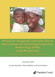 Manual for designing community-based interventions for preventing ...