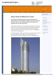 Neues Hotel im Millennium Tower - Harry's Home Hotels