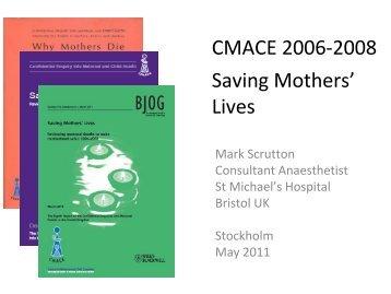 CMACE 2006-2008 Saving Mothers' Lives - SFAI