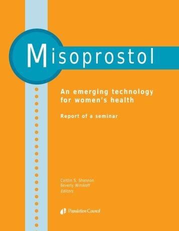 Misoprostol: An emerging technology for women's health