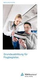 grundausbildung für flugbegleiter. - Tuv