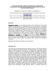 8. Isolation and Development of Microsatellite Markers in ...