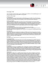 Serviceregeln / AGB - Uniserv