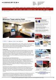Millenium Tower wird zu Hotel - Harry's Home Hotels