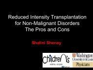 Reduced intensity stem cell transplantation for non ... - CBMTG
