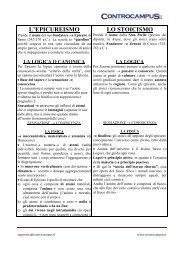 L'EPICUREISMO LO STOICISMO - Appunti - Controcampus